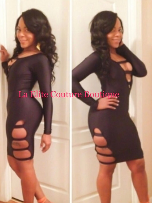 Black Bodycon party dress