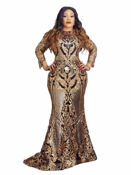 Jessica Black/Gold Gown