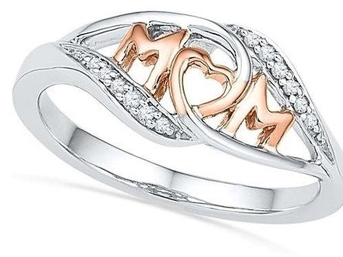 Love Mom Silver fashion ring