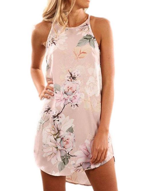 Sleeveless floral summer dress