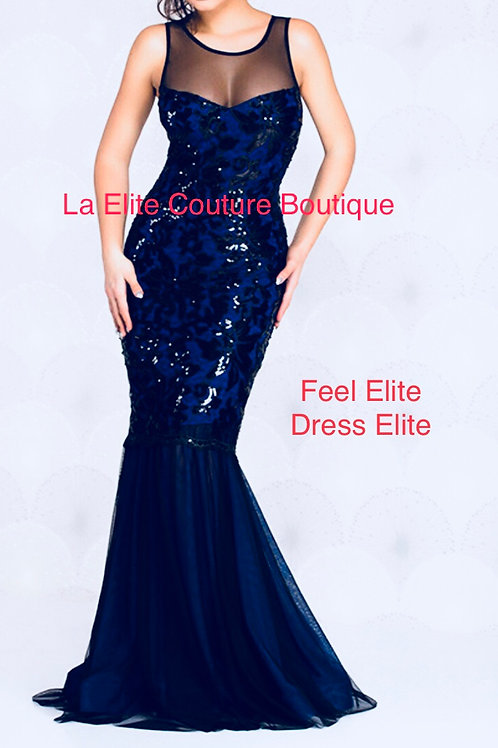 Blue Statement Long Evening/Prom Gown