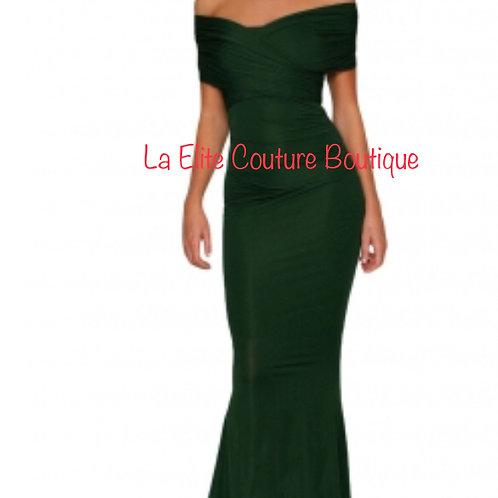 Green Simple Elegant Gown