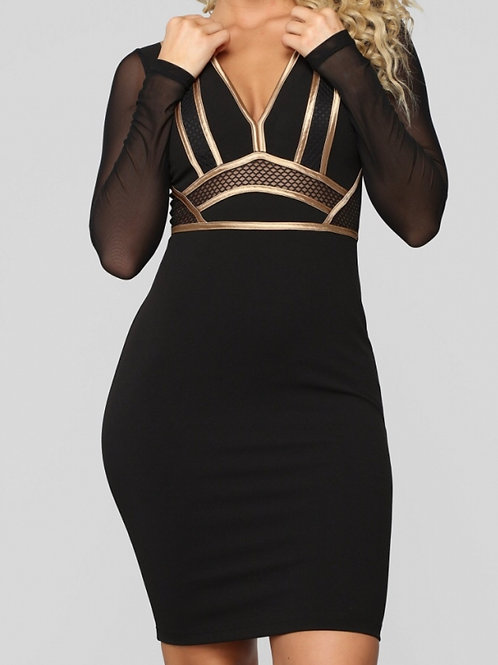 Little Black and Gold Midi