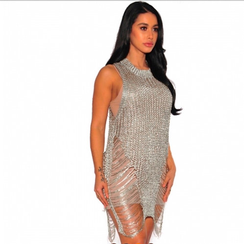 Silver must have club dress
