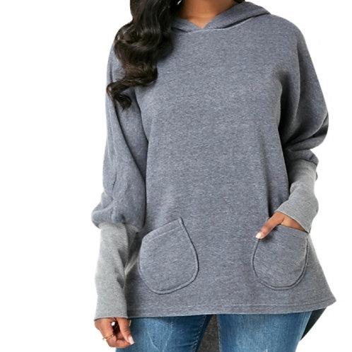 Gray hoody with pocket
