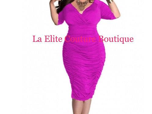 Purple Sexy plus size dress