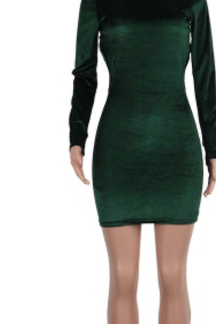 Green Back out BodyCon