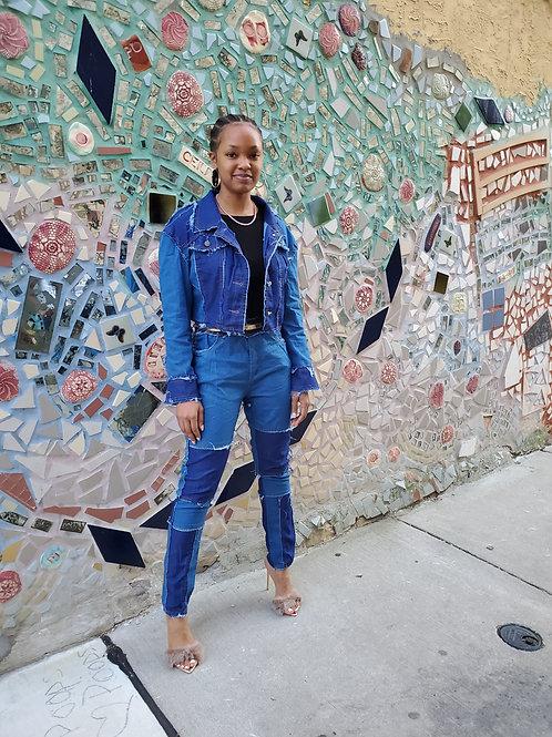 Amelia two piece Jean set