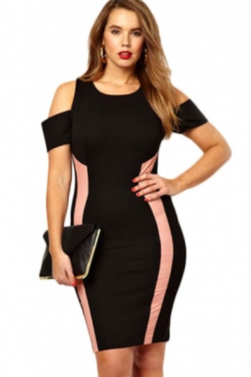 Black Exclusive Bodycon Dress With Drop