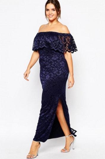 Shelf Bandeau Maxi Dress in Lace