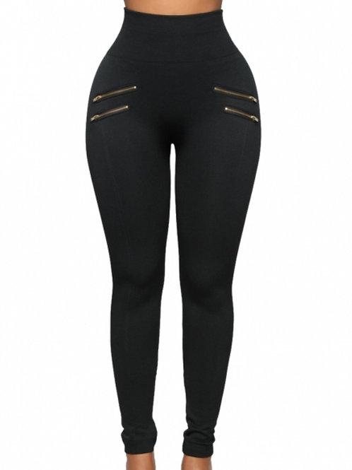Zip front leggings