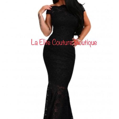 Black Lace Elegant Gown