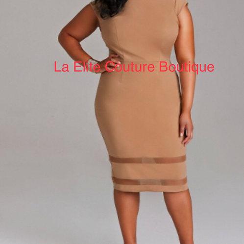 Brown Evening Multi Purpose Dress
