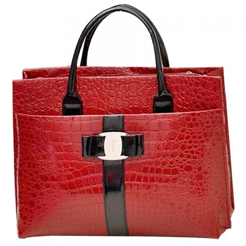 Fashionable Embossing and Metal Design Women's Tot
