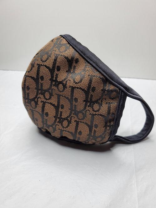 Face Mask Dior Design Brown/Black