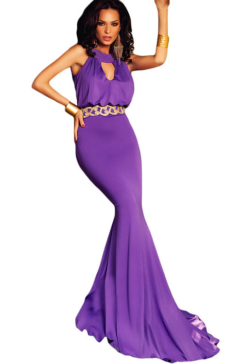 Elegant Keyhole Prom Dress