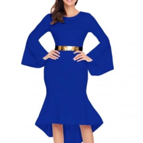 Royal Blue Elegant Evening Dress