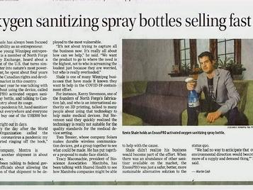 Oxygen sanitizing spray bottles selling fast in Canada