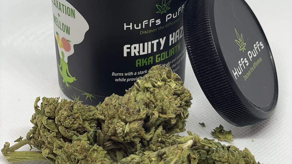 """Fruity Haze"" Goliath hand trimmed flower top shelf"