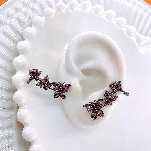 Brinco Ear cuff borboleta