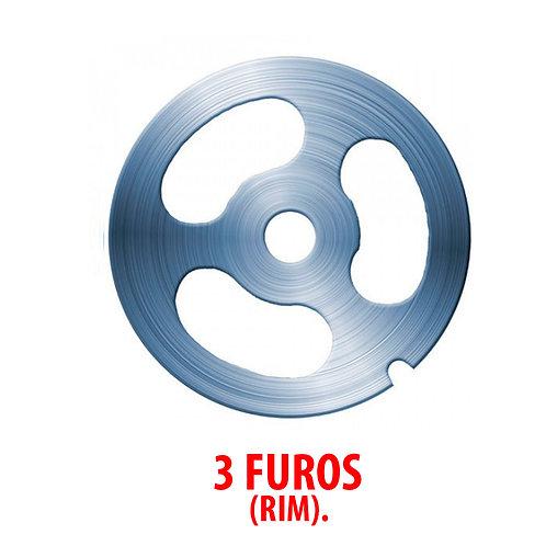 Disco 3 furos (Rim) P/ Moedor Nº10 Faca de aço