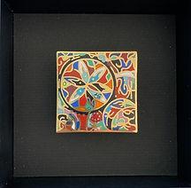 cadre décoratif émail champlevé doré cad