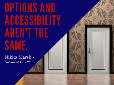 Find ways to improve accessibility within your community.