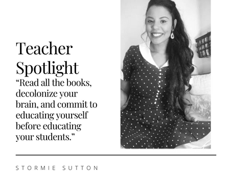 Teacher Spotlight: Stormie Sutton
