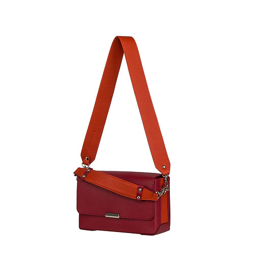 Handmade leather bag designed for women, 2 different shoulder straps, very comfortable to carry