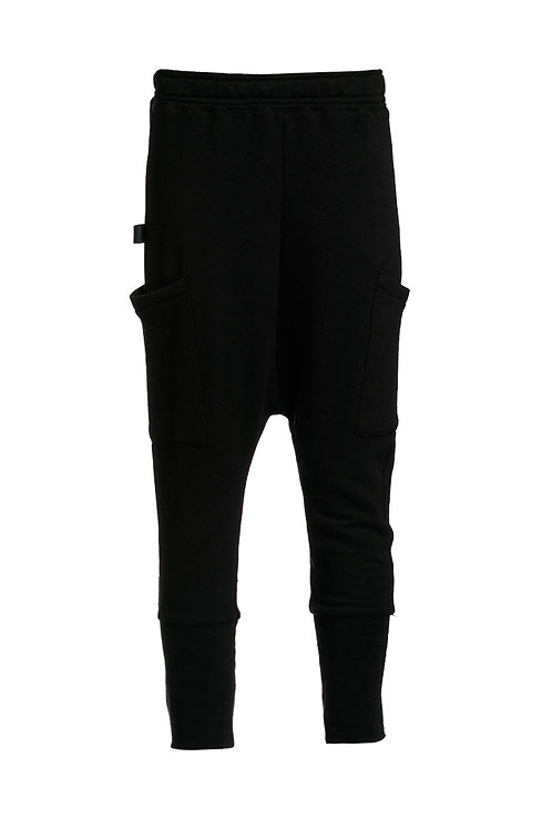 Warm flannel fabric pants are very comfortable and in an interesting cut and side pockets