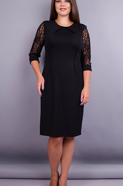 Dress with black 3/4 lace sleeves