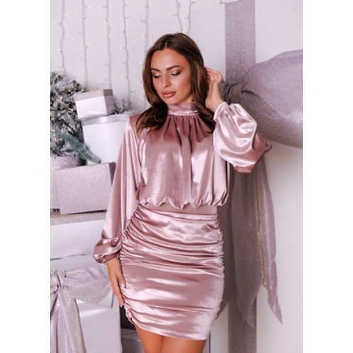 Shiny satin dress sexy and sculpted