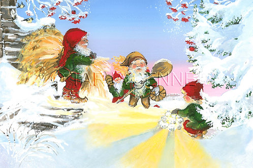 Kortti, Card,  SE96 Tonttujen joulupuuha