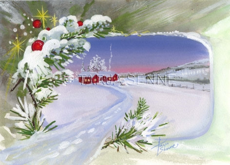 Kortti, Card, SE33 Joulumaisema. Plankko