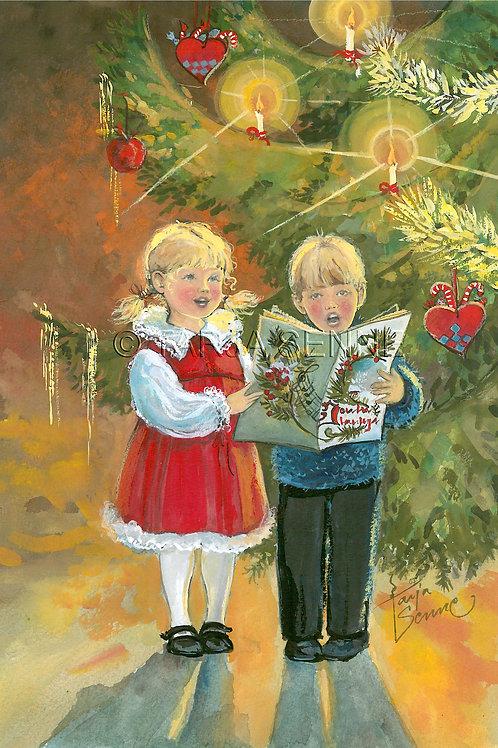 Kortti, card SE196 Lapset laulaa joululauluja