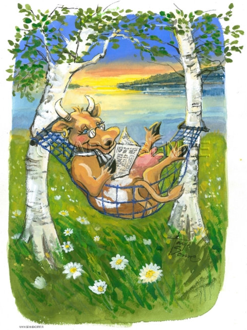 Kortti, Card, SE 134 Lehmä keinussa
