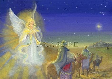 Kortti, card SE7 Tietäjät ja enkeli