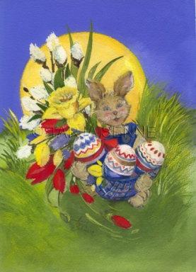 Kortti, Card, SE Pääsiäispupu ja munia