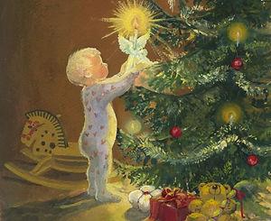Lapsi ja joulukuusi