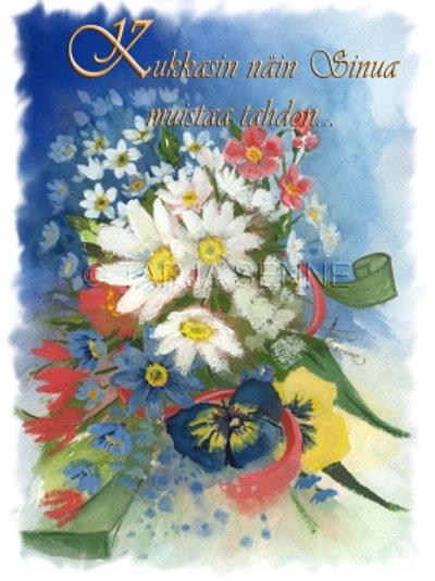 Kortti, Card, SE26 Kukkia runotekstillä