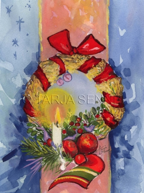 Kortti, Card, SE34 Joulukranssi. Plankko