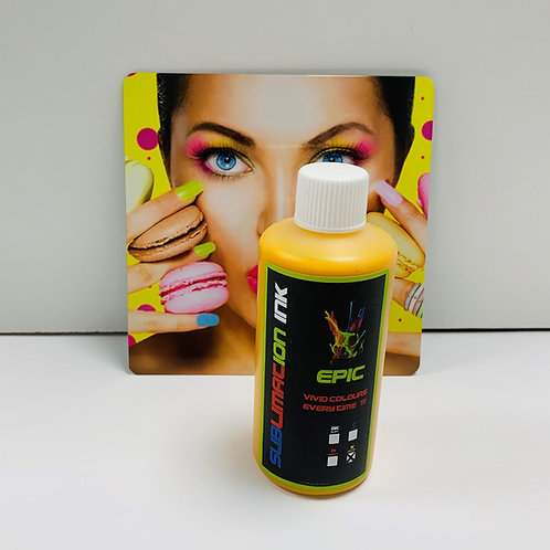 Epic Sublimation Ink - 100ml Yellow Dye Sub for Epson