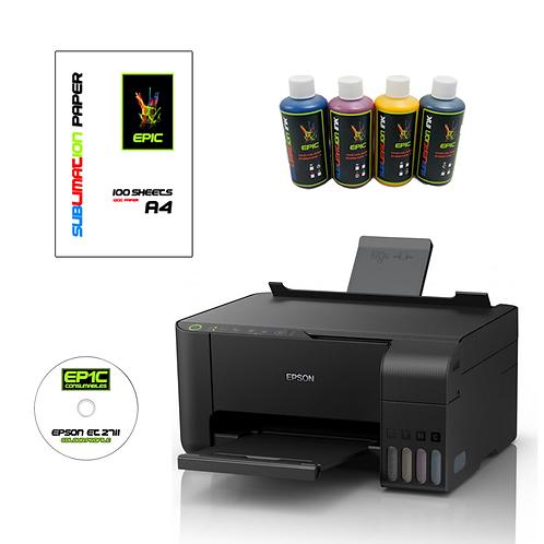 Epic - Epson et-2710 EcoTank Sublimation Printer A4