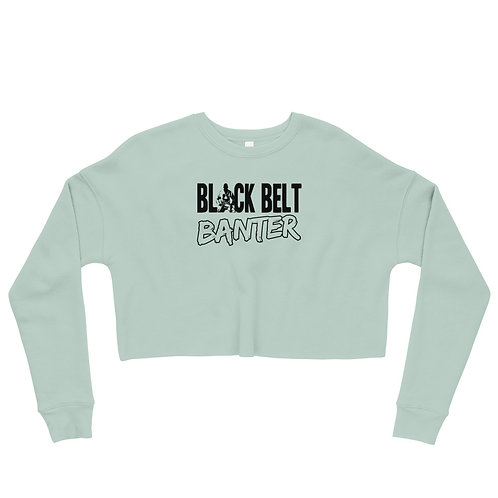 BBB Signature Design Crop Sweatshirt - Dusty Blue
