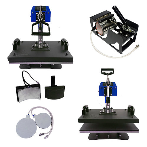 UK Press 5 in 1 Swing Away Heat Press 38x38cm