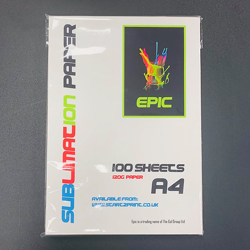 Epic Sublimation Paper - 120GSM - 100 Sheets