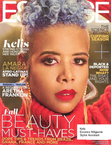 Kelis: Essence Magazine; Stylist Assistant