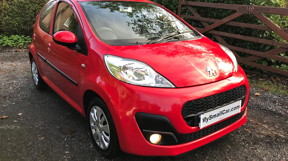 2013/62 PEUGEOT 107 ACTIVE 5DR WITH A/C AND ONLY 27,000 MILES
