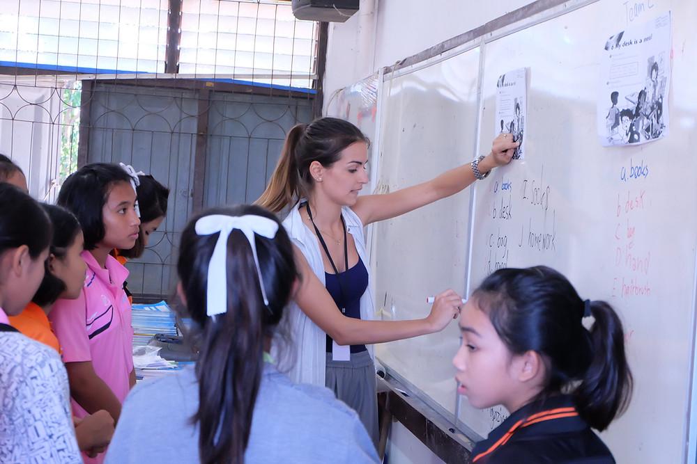 teaching practice in actual classroom in Thailand
