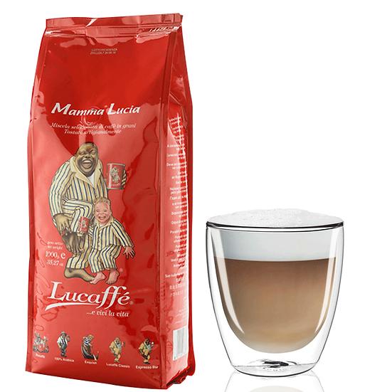 """Lucaffe Mamma Lucia - מאממא לוצ'יה - פולי קפה - 1 ק""""ג"""